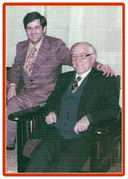 Ohannes Baghdassarian with his Son Ara 1977